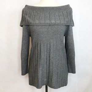 Kenneth Cole Off the Shoulder Gray Sweater Sz Med.